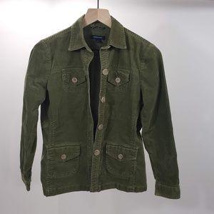 Lands End Womens Utility coat Jacket Size 4P